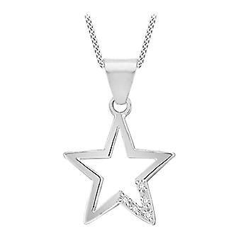 Tuscany Silver Necklace with Women's Pendant in Silver Sterling 925 - with Cubic Zirconium - 46 cm 8.44.2200