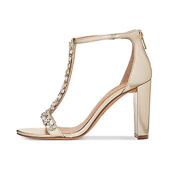 BADGLEY MISCHKA Womens Morley فتح Toe Special Occasion T-Strap Sandals