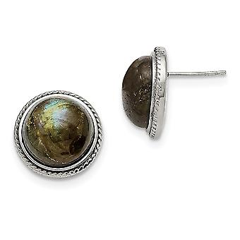 Stainless Steel Polished Labradorite Post Earrings Jewelry Gifts for Women
