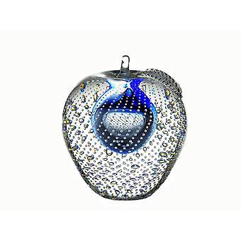 Bergdalshyttan-Art Glass-apple Big Blue Design Magnus Carlsson