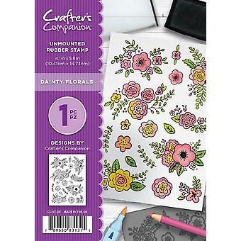 Crafter-apos;s Companion A6 Rubber Stamp - Fleurs Dainty