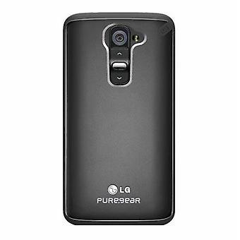 PureGear Slim Shell Hybrid caso shockproof para LG G2 smartphone-Clear/preto