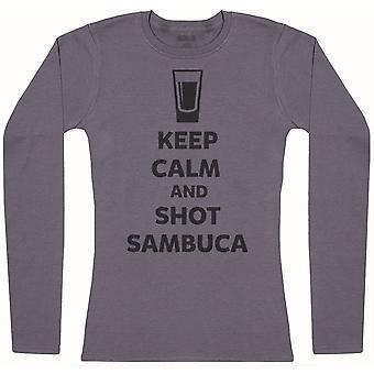 Keep Calm And Shot Sambuca - Camiseta de manga larga para mujer