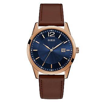 تخمين W1186G3 الرجال & s بيري براون حزام ساعة المعصم