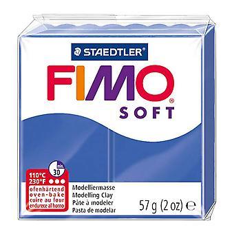Fimo Soft modelagem argila-forno endurecimento-56grm bloco-azul brilhante 33