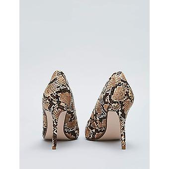 Amazon Brand - find. Women's Mary Jane Pump Brown Snake), US 7.5