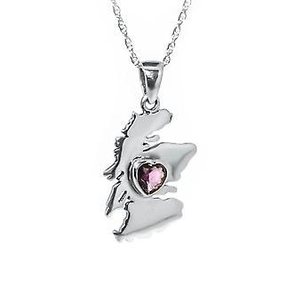 Från hjärtat av Skottland halsband hänge-ametist Stone-innehåller en 20