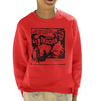 Hammer Horror Films Dracula Chill Of The Tomb Quote Kid's Sweatshirt