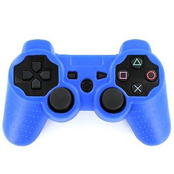 Zedlabz value soft silicone rubber skin grip cover for sony ps3 controllers - royal blue
