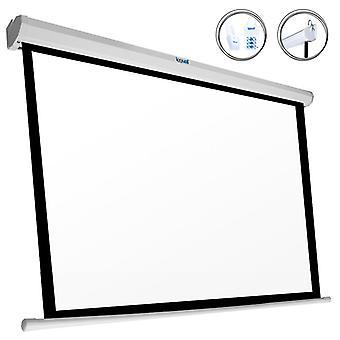 """Écran électrique panoramique iggual PSIES243 110"""" (243 x 137 cm) Blanc"""