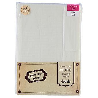 Linens and Lace Unisex Crm Flannelette Sheet Set 11