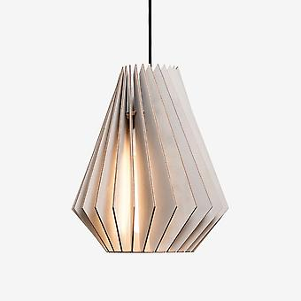 Iumi Hektor Cone Shaped Birch Plywood Pendant - Grey