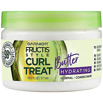 Garnier Fructis Style Curl Treat Hydrating Butter for Normal to Coarse Curly Hair, 10.5 oz.