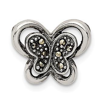 925 שטרלינג מרסהאתר פרפר מלאך כנפי שרשרת תכשיטים שקופיות מתנות לנשים