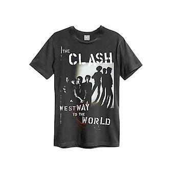 Amplified The Clash Westway To The World T-shirt dla mężczyzn