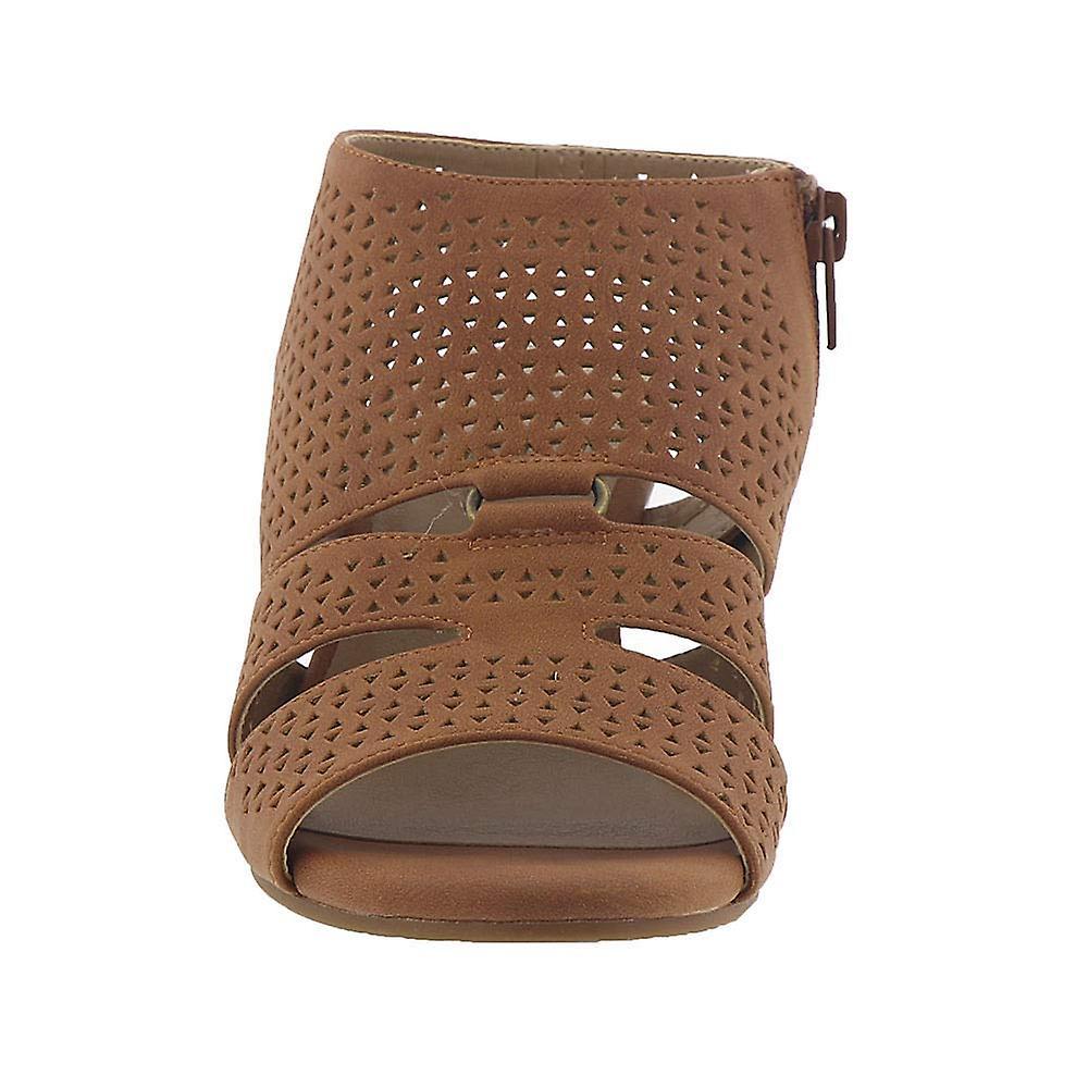 SOUL Naturalizer Womens Dez Leather Peep Toe Casual Ankle Strap Sandals - Spesiell rabatt
