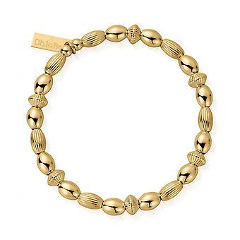 ChloBo Gold Mini Oval Disc Armband