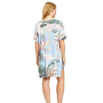 Féraud 3201002-16364 Women's High Class Multicolor Leaves Loungewear Nightdress