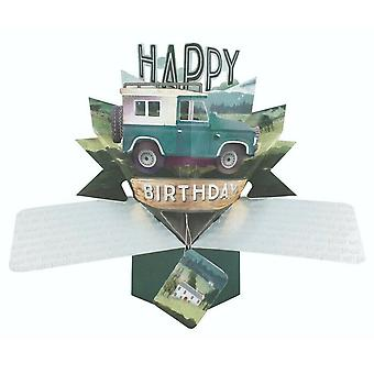 Second Nature Pop Up Jeep 3d Birthday Card Pop175
