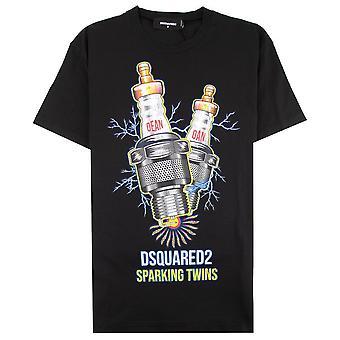 Dsquared2 Vonken tweeling T-shirt Zwart 900