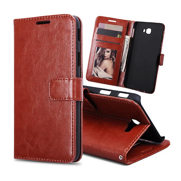 Stuff Certified® Samsung Galaxy S7 Edge - Leather Wallet Flip Case Cover Cas Case Wallet Brown