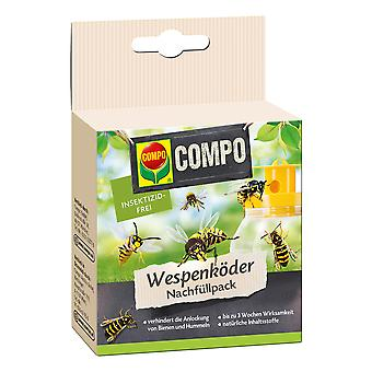 COMPO Wasp Traps Bait Refill Pack, 3 piezas