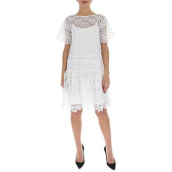 Alberta Ferretti 54011631a0002 Women's White Acettate Dress