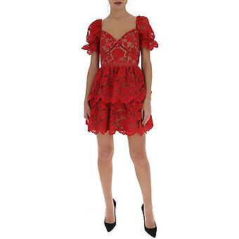 Self-portrait Rs20113sfuchsia Women's Red Polyester Dress