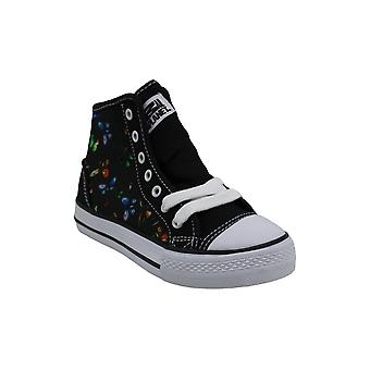 Kids Animal Planet Girls Superfly Fabric Hight Top Lace Up Fashion Sneaker