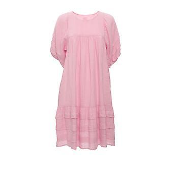 120% N0w4779000b317000n085 Women's Pink Linen Dress