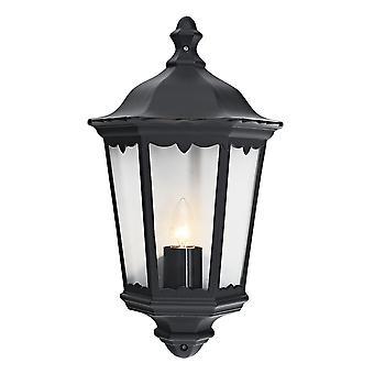 Traditional Black Cast Aluminium Outdoor Lantern Wall Light
