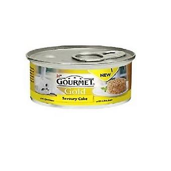 Gourmet Gold Savory Cake With Chicken Wet Cat Food (12 Tins)