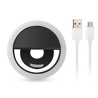 Universal Selfie lamp/Ring with different light modes-black