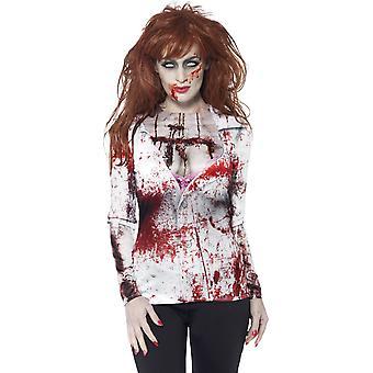 Sexy Zombie Halloween vrouw T-shirt