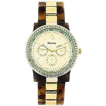 Henley Glamour Chrono Effect Dial Tortoise Brac Strap Ladies Watch H0887.2G