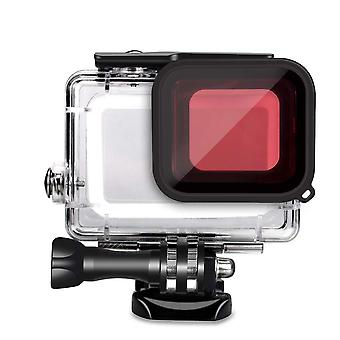GoPro Hero5/6/7 Zwart waterdicht Shell Red Filter (2018)