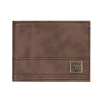 Quiksilver New Stitchy Faux Leather Wallet in Chocolate Brown