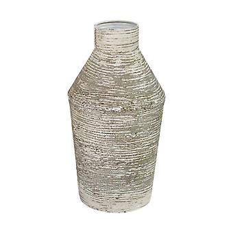 Earth Tone Metal Table Vase