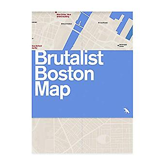 Brutalist Boston Map by Chris Grimley - 9781912018697 Book