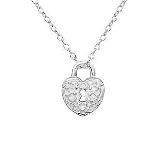 Lock - 925 Sterling Silver Plain Necklaces - W23117x