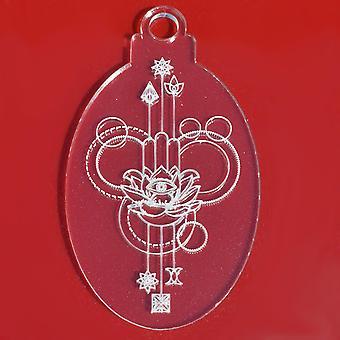 6 PK Lotus Flower Oval Clear Acrylic Christmas Decorations