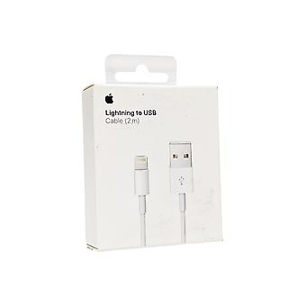 Original Apple Lightning to USB Cable for iPhone X, 11, 8, 7, 6, 5, iPad Mini, Pro - 2m/6.6ft