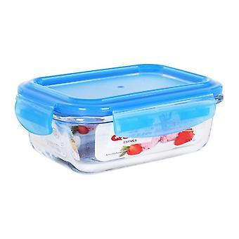 Hermetische lunchbox Quttin Rechthoekig Crystal Blue/370 cc -15,7 x 11,7 x 5,8 cm