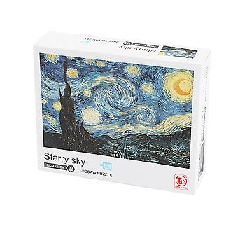 Art puzzles, 1,000 paper toys, Van Gogh starry sky patterns, great gifts for boys and girls, cool craft bags and fun art sets for children!