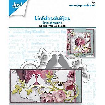 Joy! Crafts Cut-emboss-debossdie - Love Pigeons 6002a1471 40x80 mm