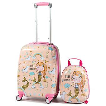ABS Kids Luggage Set 12'' Backpack 18'' Suitcase Children Boys Girls Travel New