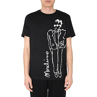 Moschino 070170401555 Men's Black Cotton T-shirt