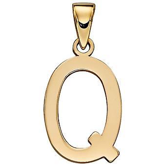 Elements Gold Q Pendant - Gold