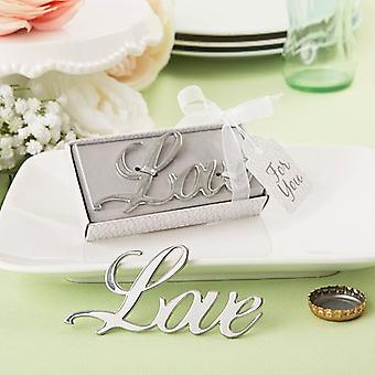 Love Themed Metal Bottle Opener