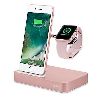 Belkin Valet Charge Dock para Apple Watch + iPhone - Rose Gold